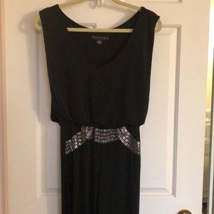 Black Jumper with metallic waist embellishment